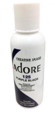 Adore hair dye colour 125 purple black