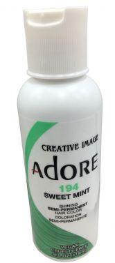 ADORE SEMI PERMANENT HAIR dye COLOUR 194 Sweet Mint